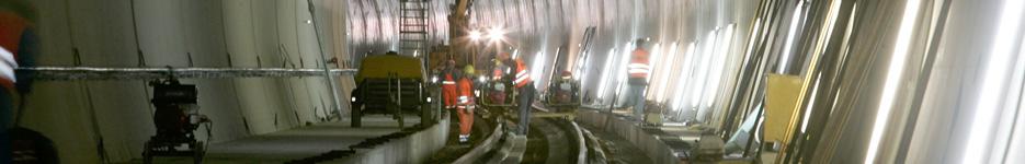 Buschtunnel Aachen - Gleisbau